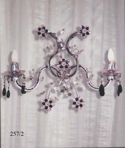 Бра классический 257/2 MO+MU (мурановское стекло)