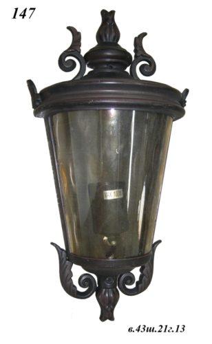 Уличный фонарь настенный 147 (ковка/темнокоричневый)
