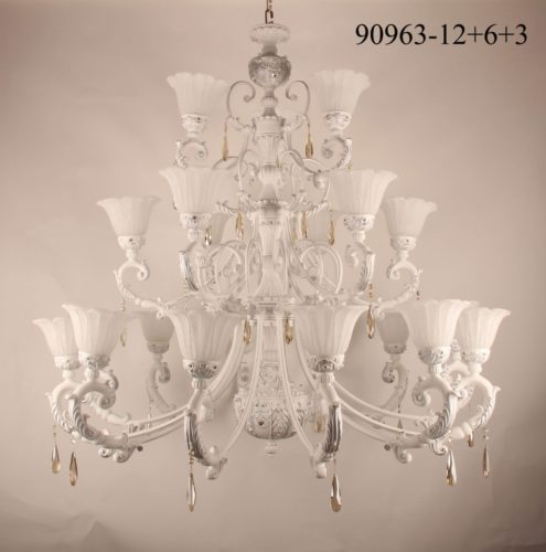 Люстра 90963/12+6+3 (белая ковка)