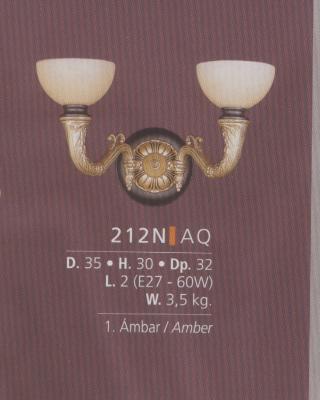 Бра 212N (французское золото/янтарь)