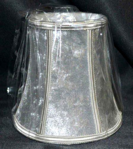Абажур №23 бархат серебро